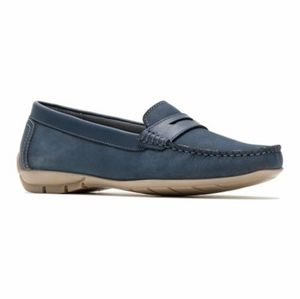 Hush Puppies Maelee Penny Loafer Navy Nubuck Women